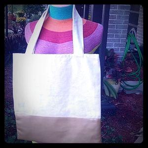 Brand new cute neutral tote bag
